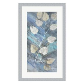 Metaverse Art Silver Leaves II Framed Wall Art