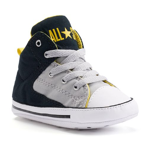 56d2d557ccac Baby Converse All Star First Star High Street Crib Shoes