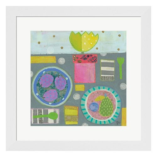 Metaverse Art Table For Two Framed Wall Art