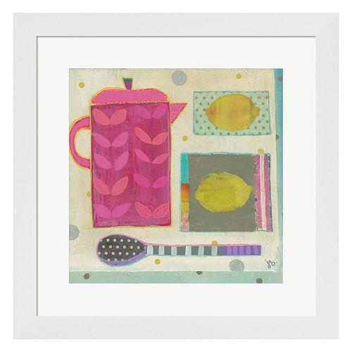 Metaverse Art Tea With Lemons Framed Wall Art