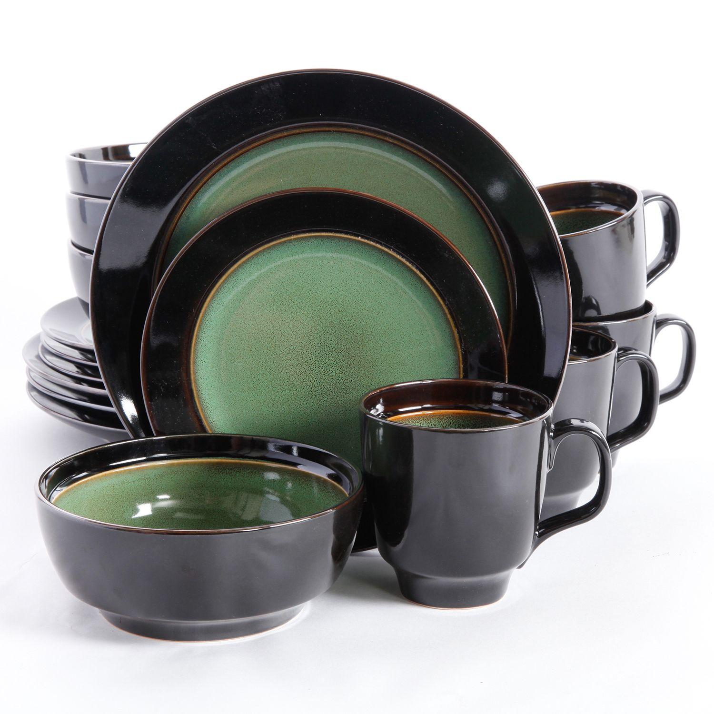 Gibson Elite Bella Galleria 16-pc. Round Dinnerware Set. Green Beige  sc 1 st  Kohlu0027s & Green Stoneware Dinnerware Sets Kitchen u0026 Dining | Kohlu0027s