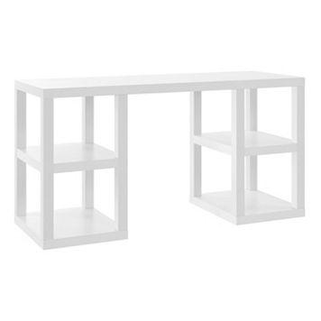 Altra Parsons Deluxe White Desk