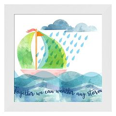 Metaverse Art 'Weather Any Storm' Framed Wall Art