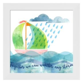 """Metaverse Art """"Weather Any Storm"""" Framed Wall Art"""