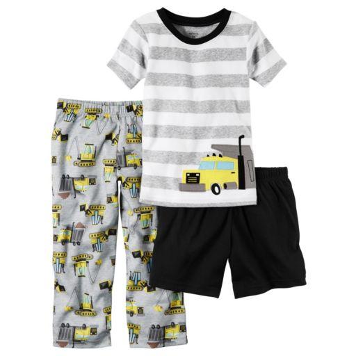 Boys 4-8 Carter's Construction 3-Piece Pajama Set