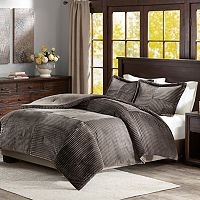 Madison Park Parker Corduroy Plush Comforter Set