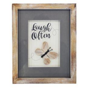 "New View ""Laugh Often"" Framed Wall Art"