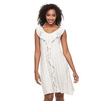 Women's Apt. 9® Draped Ruffle Dress