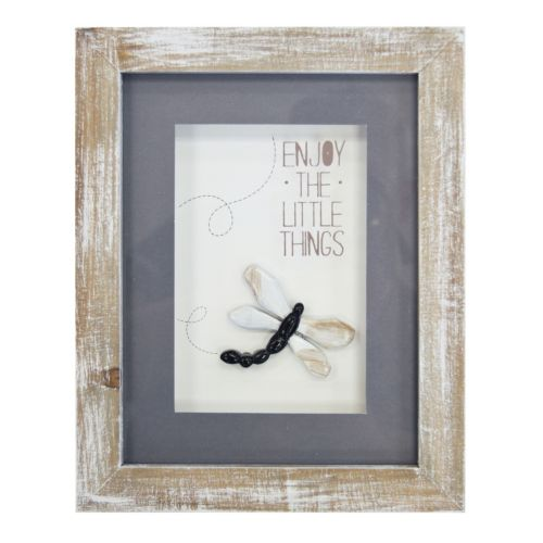 "New View ""Enjoy the Little Things"" Framed Wall Decor"