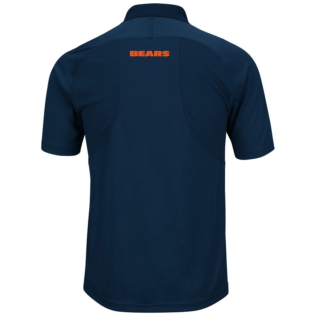 Big & Tall Majestic Chicago Bears Synthetic Polo