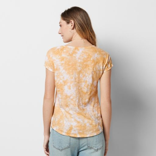 Women's SONOMA Goods for Life™ Embroidered Tie-Dye Tee