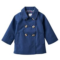 Toddler Girl Carter's Solid Lightweight Trench Coat