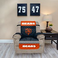 Chicago Bears Quilted Recliner Chair Cover