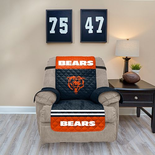 Enjoyable Chicago Bears Quilted Recliner Chair Cover Ocoug Best Dining Table And Chair Ideas Images Ocougorg