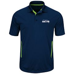 Big & Tall Majestic Seattle Seahawks Synthetic Polo