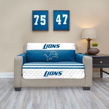 Detroit Lions Quilted Loveseat Cover