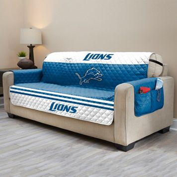 Detroit Lions Quilted Sofa Cover