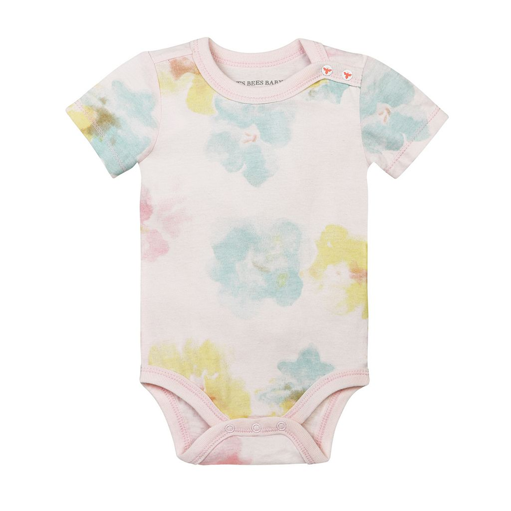 Baby Girl Burt's Bees Baby 2-pk. Organic Morning Glory Bodysuits