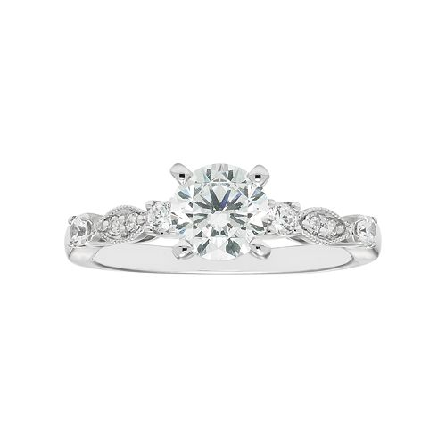 Boston Bay Diamonds 14k White Gold 1 1/5 Carat T.W. IGL Certified Diamond Engagement Ring