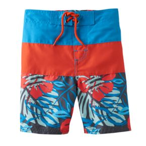 Boys 4-7 OshKosh B'gosh® Tropical Print Colorblock Swim Trunks