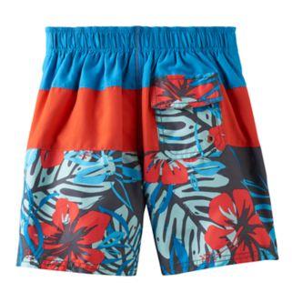 Boys 4-7 OshKosh B'gosh® Tropical Print Colorblock Swim Trunks
