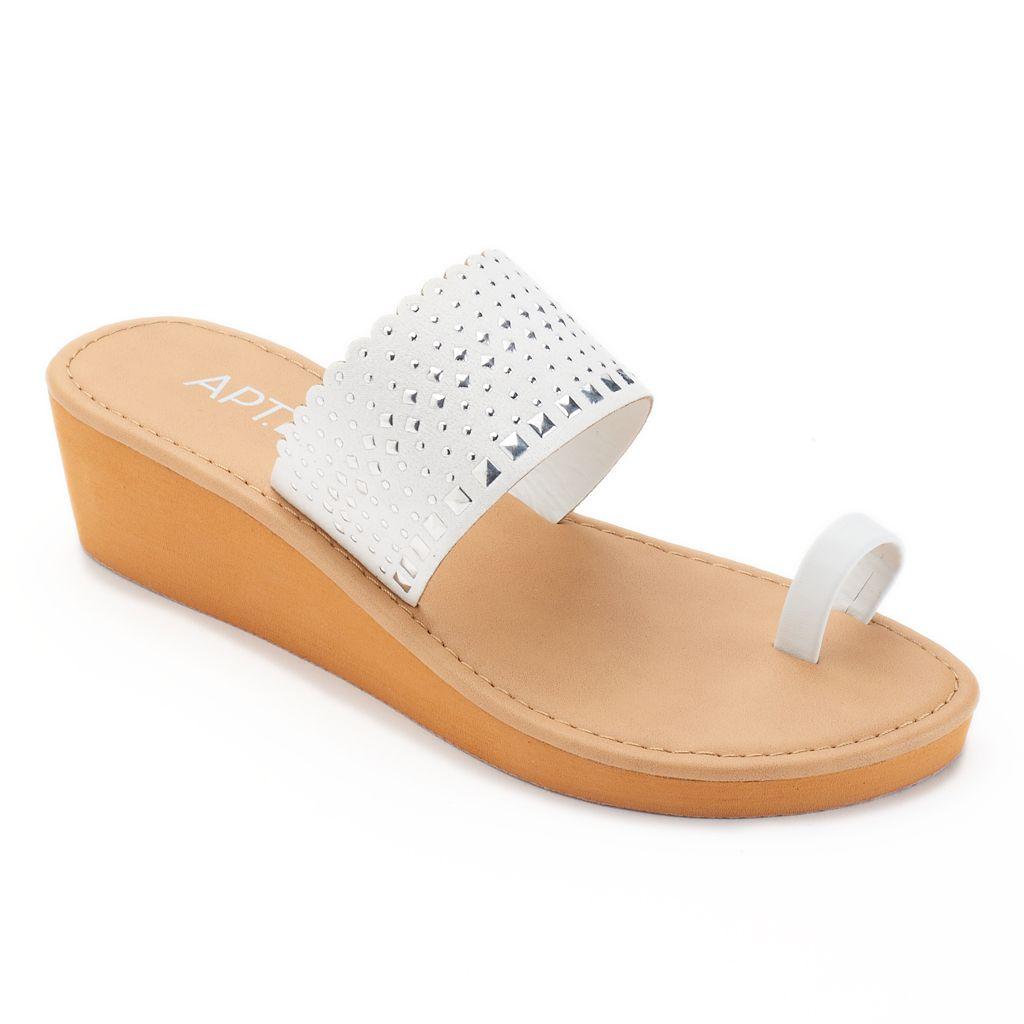 Apt. 9® Women's Studded Wedge Flip-Flops