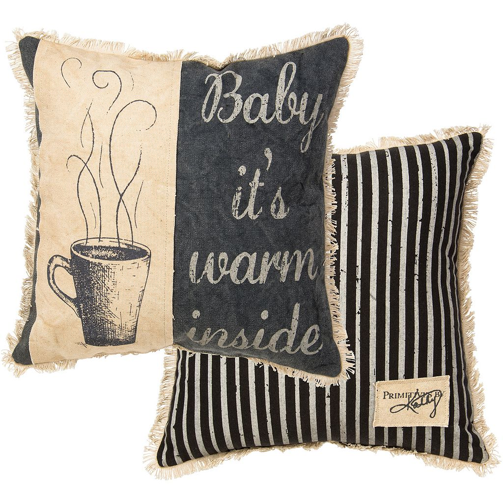 ''Baby It's Warm Inside'' Reversible Throw Pillow