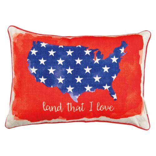 ''Land That I Love'' Reversible Oblong Throw Pillow