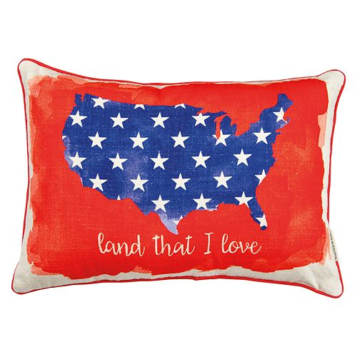 ''Land That I Love'' Reversible Oblong Throw Pillow