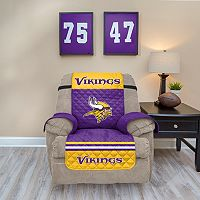 Minnesota Vikings Quilted Recliner Chair Cover