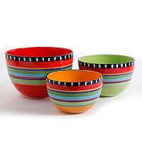 Gibson Elite Pueblo Springs 3-pc. Bowl Set