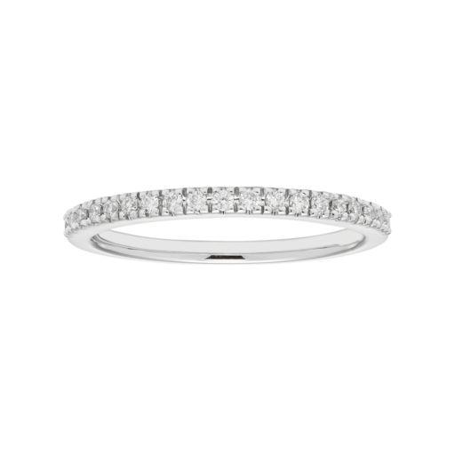 Boston Bay Diamonds 14k White Gold 1/5 Carat T.W. IGL Certified Diamond Wedding Ring