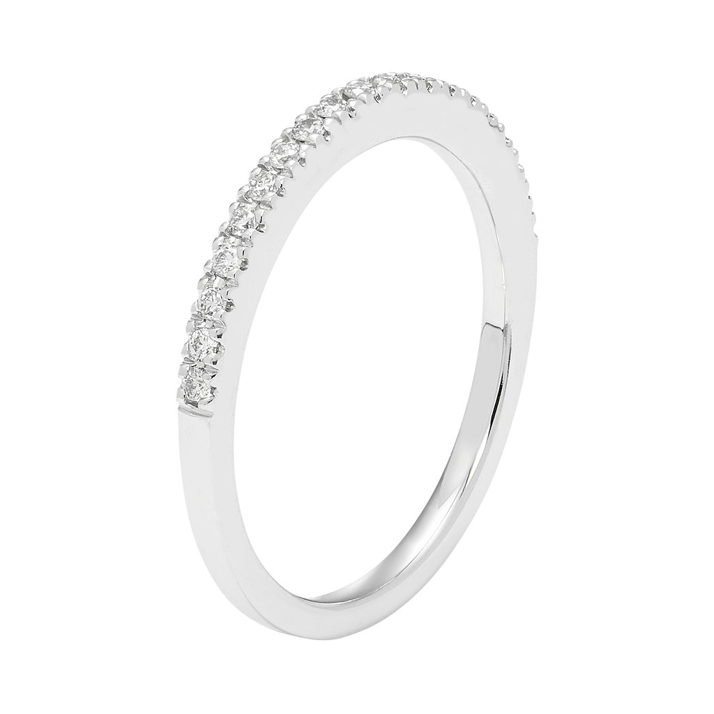 Boston Bay Diamonds 14k White Gold 1/5 Carat T.W. IGL Certified Diamond Wedding Ring