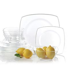 Gibson Home Soho Lounge Glass 12 pc Dinnerware Set