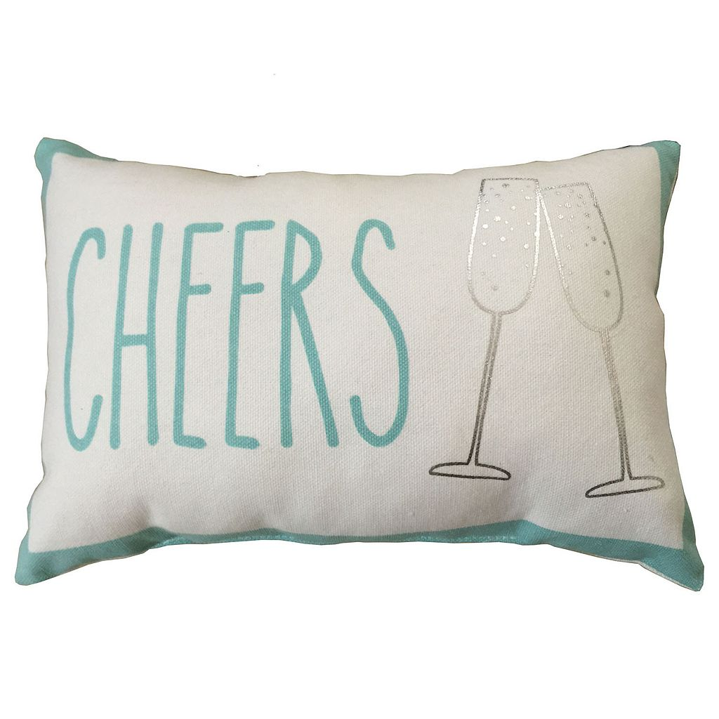 ''Cheers'' Small Oblong Throw Pillow