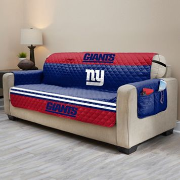 New York Giants Quilted Sofa Cover