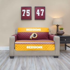 Washington Redskins Quilted Loveseat Cover