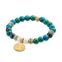 Wish Upon A Rock Midnight Mixed Jade Beaded Stretch Bracelet