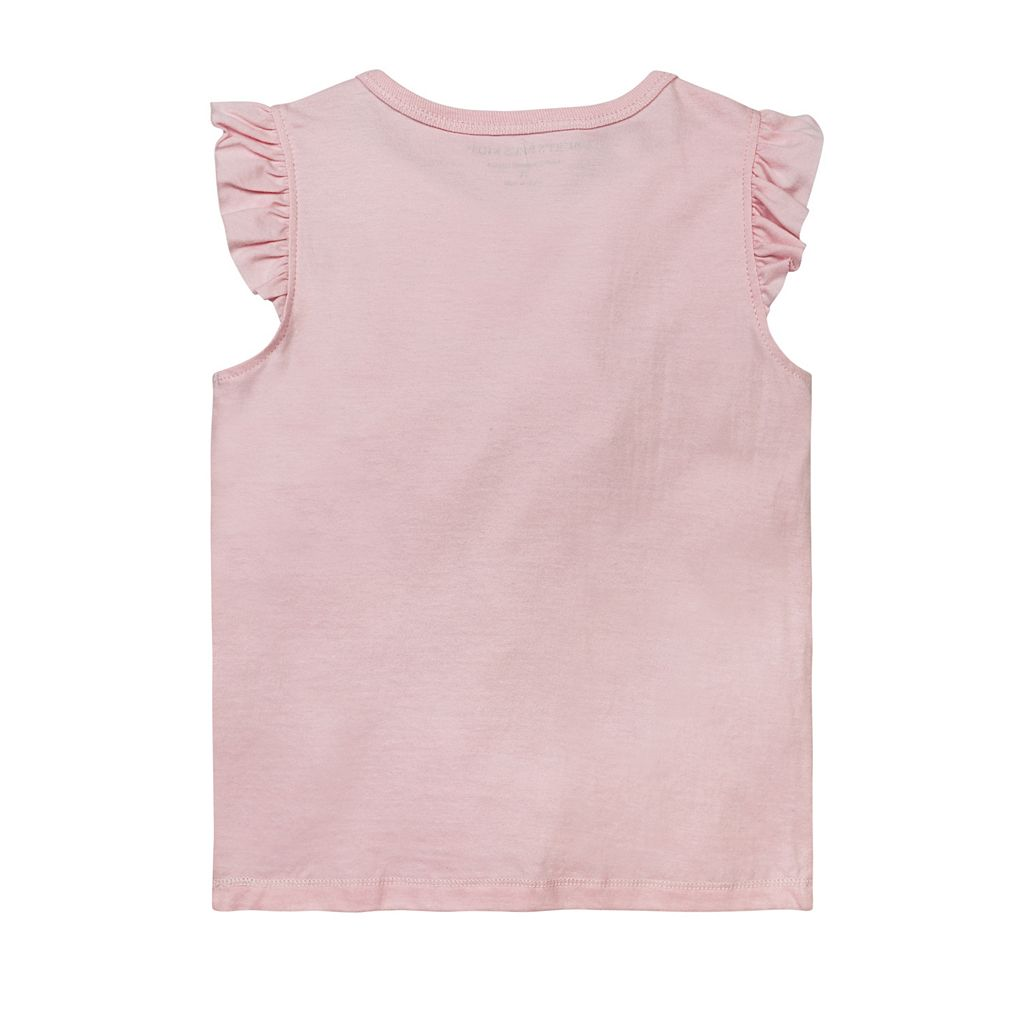 Toddler Girl Burt's Bees Baby Frilly Flower Tee