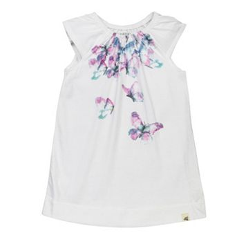 Toddler Girl Burt's Bees Baby Cascading Butterflies Dress
