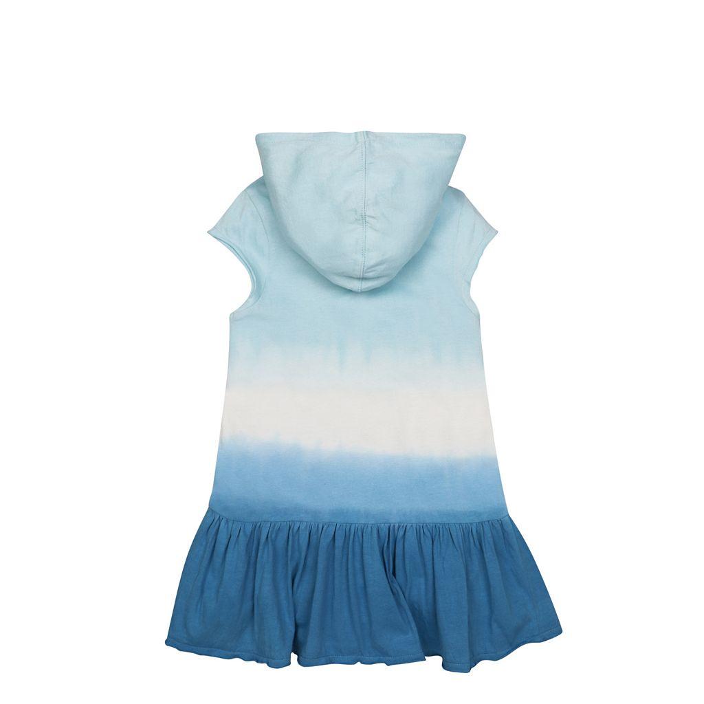 Toddler Girl Burt's Bees Baby Triple Dip Dye Hooded Dress