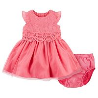 Baby Girl Carter's Lace & Tulle Dress & Bloomers Set