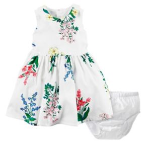 Baby Girl Carter's Floral Print Dress & Bloomers Set