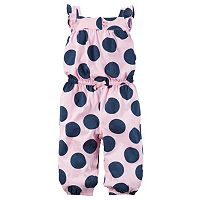 Baby Girl Carter's Polka-Dot Jumpsuit