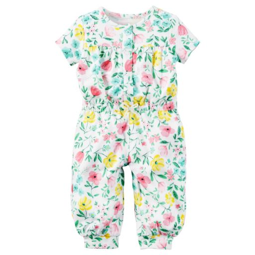 Baby Girl Carter's Floral Jumpsuit