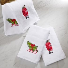 HipStyle 4-pack Tree Tidings Towel Set