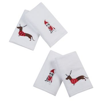 HipStyle 4-pack Dasher Dog Towel Set