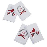 HipStyle 4-pack Jingling Joy Towel Set