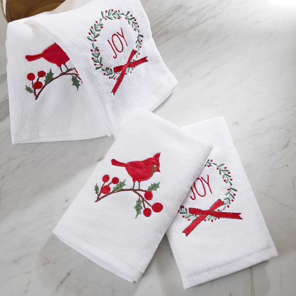 HipStyle 4-pack Jingling Joy Towel Set