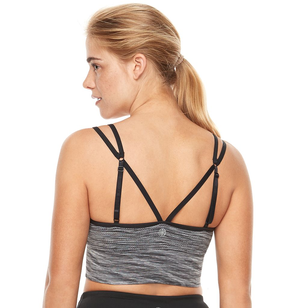 Gaiam Bras: Echo Seamless Yoga Medium-Impact Bralette GKW172BR01